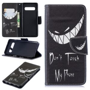 Dont touch my phone Samsung S10 portemonnee hoesje